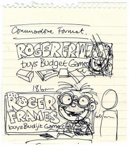 The very first sketches of Roger Frames!