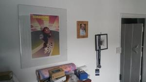 Simon Forrester's office wall