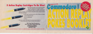 "Andy Roberts' Action Replay pokes booklet (CF7). DO NOT USE A PAPERCLIP, etc. Note the nifty inclusion of a Creatures ""baddie"" in the bottom right of the front page. PHOTO CREDIT: Frank Gasking."