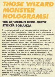 ...and here's a bit inside the mag about the holograms. Never have so many words been spent on a couple of free stickers.