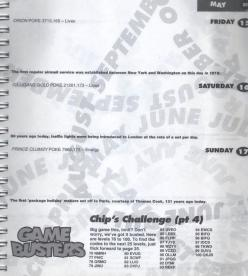 A page from CF's 1992/1993 diary. With some help for Chip's Challenge!