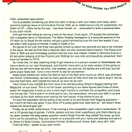 SUBS LETTER, CF9. June 1991. The first one.