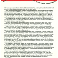 SUBS LETTER, CF13. October 1991. Steve says sorry for not getting a subs letter out with copies of CF12. And he fesses up to a clanger on the cover, too. Note his signature this month. Pisstaker...