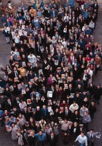 Future Publishing magazine staff, late 1993. Look hard enough (left hand side!) and you'll see CF art editor Ollie Alderton standing next to Hutch. He's holding that month's CF (issue 38, the Mayhem In Monsterland issue). Keep looking and you will also spot Clur, Steve Jarratt, Trent and many others.