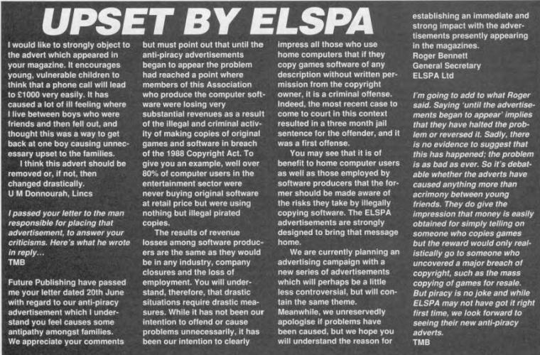 UPSET BY ELSPA