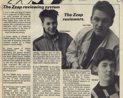 zzap reviewers